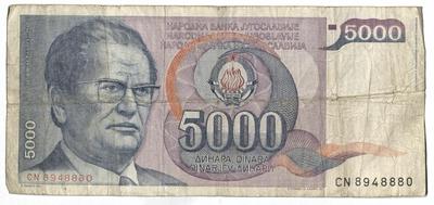 Image from object titled Banknot jugosławiański