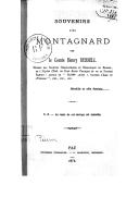 Souvenirs d'un montagnard / par le comte Henry Russell...