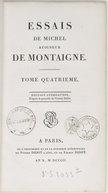 Essais de Michel, seigneur de Montaigne. T. 4