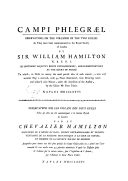 Campi phlegraei : observations on the volcanos of the two Sicilies, as they have been communicated to the Royal society of London. T. 2 / by Sir William Hamilton,...; Campi phlegraei : observations sur les volcans des deux...