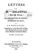 Lettres de Mlle de Launai (Mme de Staal) au chevalier de Ménil, au marquis de Silly et à M. D'héricourt. T. 2 / , auxquelles on a joint celles de M. de Chaulieu [et de M. de Rémond] à mademoiselle de Launai, et le portrait...