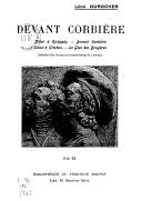 Devant Corbière / Léon Durocher ; médaillon d'Em. Bourdelle et portrait-charge de J. Pohier