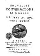 Nouvelles conversations de morale.... T. 2