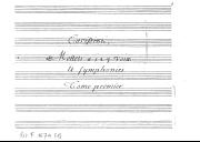 Carissimi, // Mottets a 1 2 3 voix // Et symphonies // Tome premier
