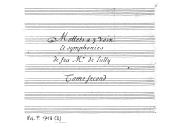 Mottets a 3 voix // Et symphonies // de feu Mr. de Lully // Tome second