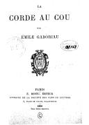 La corde au cou / par Émile Gaboriau