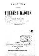 Thérèse Raquin : drame en 4 actes / Émile Zola