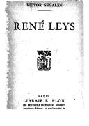 René Leys / Victor Segalen