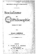 Socialisme et philosophie : (lettres à G. Sorel) / par Antonio Labriola,...