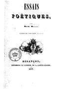 Essais poétiques / par Max B...... ; Vignettes par Gust. C.......