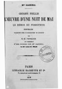 Cousine Phillis ; L'oeuvre d'une nuit de mai ; Le héros du fossoyeur / Mrs Gaskell ; nouvelles traduites avec l'autorisation de l'auteur par E.-D. Forgues ; et précédées d'une notice sur Mrs Gaskell par Mme Louise Sw. Belloc