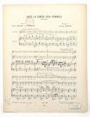 Avec le coeur des femmes, chanson. Paroles de Henri Darsay et E. Rimbault. Musique de Léopold Wenzel