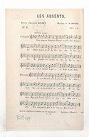 Les absents / paroles d'Alphonse Daudet ; musique de F. Poise