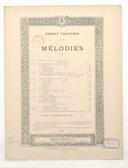 Mélodies. Chansons de Shakespeare, trad. de M. Bouchor)