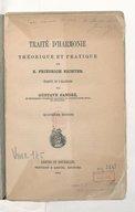 Traité d'harmonie théorique et pratique.... Traduit de l'allemand par Gustave Sandré... (Quatrième édition)