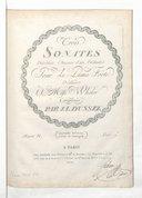 Trois sonates précédées chacune d'un prélude pour le piano forte (Seconde édition revue et corrigée) / dédiées à Miss Wheeler composées par J. L. Dussek. Oeuvre 31