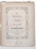 10 études mélodiques et progressives pour le violon avec accompagnement d'un second violon, ad libit. op. 10, 1er livre