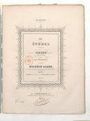 Dix études brillantes pour le violon avec accpt. d'un 2e violon, op. 16 2e livre