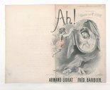 Ah ! : chansonnette / paroles de Armand Liorat ; musique de Fréd. Barbier ; chantée par Mme Judic à l'Eldorado