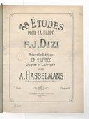 48 études pour la harpe, nouvelle édition en 2 livres, doigtée et corrigée par Alphonse Hasselmans