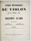 Etudes méthodiques du violon, extrait de la Méthode (1ère édition en 3 livraisons)