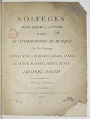 Solfèges pour servir à l'étude dans le Conservatoire de musique par les citoyens Agus, Catel, Cherubini, Gossec, Langlé, Le Sueur, Martini, Méhul et Rey. 2e partie, livre IVe à 1 voix