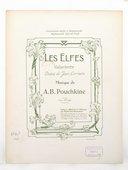Les Elfes, valse lente. Poésie de Jean Lorrain. Musique de A.-B. Pouchkine
