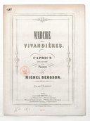 Marche des Vivandières, caprice de genre pour piano. (Op. 45)