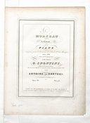 Morceau de concert pour piano composé pour le concours de l'Ecole r.le de musique année 1840, classe de Mr. Zimmermann.. par Antoine de Kontski..., opera 40...