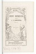 Śpiewy historyczne przez J. U.Ni emcewicz. Tom V. Avec musique à 1 voix et piano de différents auteurs (Wyd. 3 e.)