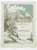 Sur un Nuage, poésie de Daniel Lesueur, musique de Cesare Galeotti