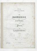 Les Harmonies de la nature pour piano, pour L. Lacombe, op. 22