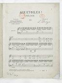 Aux étoiles ! mélodie. Paroles de Stéphane Bordese. Traduction rhythmique (sic) de l'anglais de Emmie Langton. Musique de L. Denza