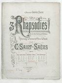 3 rhapsodies sur des cantiques bretons : pélerinage au pardon de Ste Anne-la-Palude : op. 7 / par C. Saint-Saëns ; pour piano à 4 mains