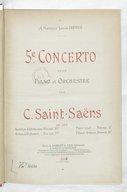 5e concerto pour piano et orchestre : op. 103 / par C. Saint-Saëns