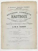 Méthode complète de hautbois divisée en 4 parties
