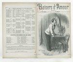 Baisers d'amour : romance / paroles de Villemer ; musique de Paul Courtois ; chantée par Mr Sarrus au XIXe Siècle et par Mr Miallet [sic] au concert de la Pépinière