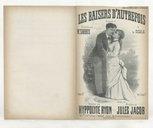Les baisers d'autrefois : romance / paroles de Hippolyte Ryon ; musique de Jules Jacob ; chantée par Mr Sarrus à la Scala