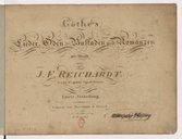 Göthe's Lieder, Oden, Balladen und Romanzen mit Musik von J. F. Reichardt,...