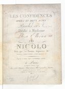 Les Confidences, opéra en 2 actes, paroles de Jxxx