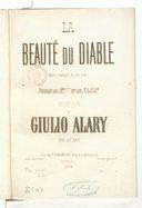 La Beauté du diable, opéra comique en 1 acte, paroles de Mrs *** et de Najac