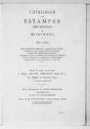 Catalogue des estampes anciennes et modernes : oeuvres de Bracquemond, Breugel, Canaletto... [et al.]... / [expert] Loys Delteil