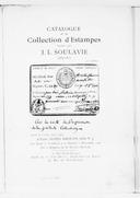 Catalogue de la collection d'estampes, formée par J. L. Soulavie : 1783-1811 : 1re partie... / [expert] Loys Delteil