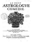Le feint astrologue , comédie