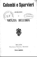 Colombi e sparvieri, romanzo di Grazia Deledda. 3° migliaio