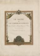 Le sacre de S. M. l'Empereur Napoléon dans l'église métropolitaine de Paris, le XI frimaire an XIII dimanche 2 décembre 1804