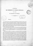 À Messieurs les membres du Conseil municipal de la ville de Nogent-le-Rotrou. [Signé : Camille Silvy ; 1er décembre 1867.]