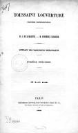 Toussaint Louverture. Première représentation. M. A. de Lamartine. M. Frédérick Lemaître. Extrait des Tablettes théâtrales. Numéro spécimen, 10 avril 1850. [Signé : Jules Renard.]
