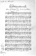 L'Internationale / musique de Degeyter ; paroles d'Eugène Pottier...