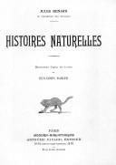 Histoires naturelles . Illustrations... de Benjamin Rabier